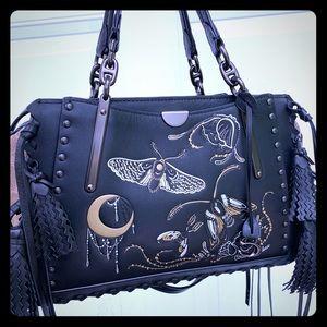 Coach black tattoo dreamer satchel bag purse 37114